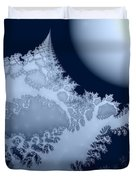 Blue Moon Out My Window Duvet Cover