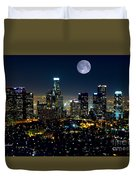 Blue Moon Over L.a. Duvet Cover