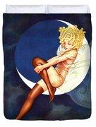 Blue Moon Silk Stockings Duvet Cover