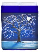 Blue Moon Willow In The Wind Duvet Cover