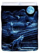 Blue Moon Wolf Pack Duvet Cover
