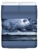 Blue Morning Taal Volcano Philippines Duvet Cover