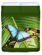 Blue Morpho Butterfly 2 - Paint Duvet Cover