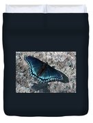 Blue Morpho Butterfly Duvet Cover
