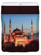 Blue Mosque At Dusk Duvet Cover