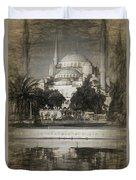 Blue Mosque - Sketch Duvet Cover