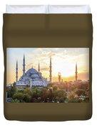 Blue Mosque Sunset Duvet Cover