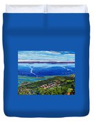 Blue Mountain Blues Duvet Cover