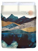 Blue Mountain Reflection Duvet Cover