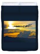 Blue Mountain Sunset Duvet Cover
