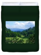 Blue Mountains Green Pastures Duvet Cover