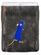 Blue Mouse Duvet Cover