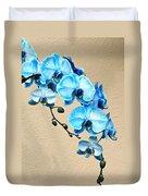 Blue Mystique Orchid Duvet Cover