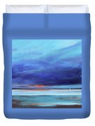 Blue Night Sail Duvet Cover by Toni Grote
