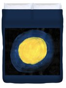 Blue Night Sun Duvet Cover