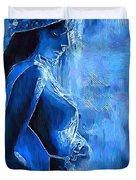Blue Nude Duvet Cover