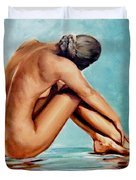 Blue Nude Duvet Cover
