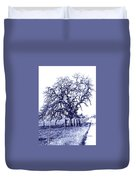 Blue Oak Duvet Cover