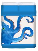Blue Octopus Duvet Cover