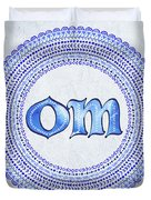 Blue Om Mandala Duvet Cover