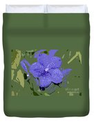 Blue On Green Work Number 9 Duvet Cover