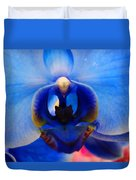 Blue Orchid Heart Duvet Cover