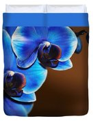 Blue Orchids Duvet Cover