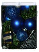 Blue Ornament Duvet Cover