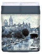 Blue Ottawa Skyline - Water Color Duvet Cover