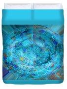 Blue Oval Duvet Cover