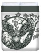 Blue Owl Duvet Cover