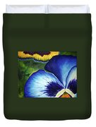 Blue Pansies  Duvet Cover