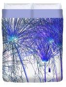 Blue Papyrus Duvet Cover
