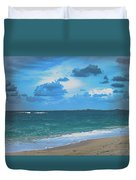 Blue Paradise, Scenic Ocean View From The Bahamas Duvet Cover