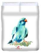 Blue Parrot Bird Duvet Cover