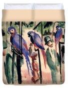 Blue Parrots Duvet Cover