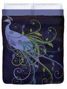 Blue Peacock Art Nouveau Duvet Cover