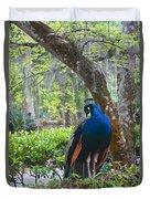 Blue Peacock  Duvet Cover