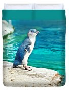 Blue Penguin Duvet Cover