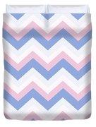 Blue Pink Chevron Pattern Duvet Cover