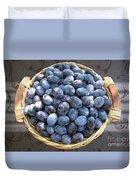 Blue Plums Duvet Cover