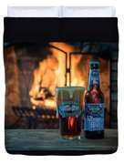 Blue Point Winter Ale By The Fire Duvet Cover