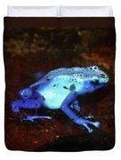 Blue Poison Dart Frog - Dendrobates Azureus Duvet Cover