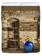 Blue Pot, Tubac, Arizona Duvet Cover