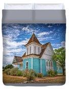 Blue Prairie Church Duvet Cover