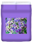 Blue Purple Hydrangea Flower Macro Art Duvet Cover
