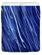 Blue Rain Abstract Duvet Cover