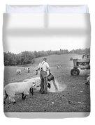 Blue Ridge Mountain Farmer Duvet Cover