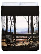 Blue Ridge Mountain Porch View Duvet Cover