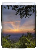 Blue Ridge Mountain Sunset Duvet Cover